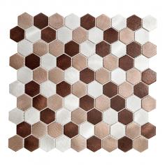 Hexa Alum Beige | 30x30 | Mosaico de Aluminio Misiones