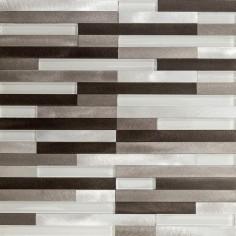 Lund Alum Strips Gray   30x30   Mosaico de Aluminio Misiones
