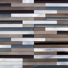 Lund Alum Strips Beige | 30x30 | Mosaico de Aluminio...