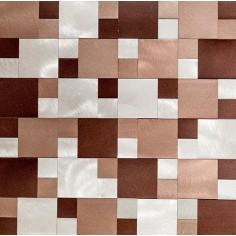 Sater Alum Beige   30x30   Mosaico de Aluminio Misiones