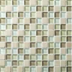 Sabbia Satin   30x30   Mosaico Materiales Mixtos Misiones