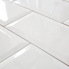 Bisel Blanco Brillo 07x15cm - 1era Calidad - Cerámicas Maja