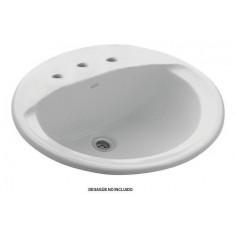 Bacha Oval Elea 3 Agujeros Blanca | Ferrum