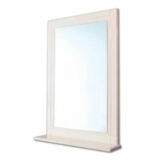 Limoges Repisa con Espejo Blanco - Ferrum