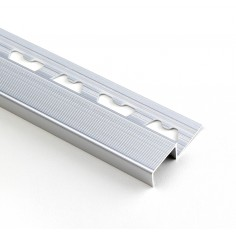 Nariz de Escalón Omega Plateado Mate 20mm Aluminio -...