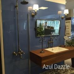 Azul Dazle 30x100 | Ceramica Vidrio Color | Crisarte